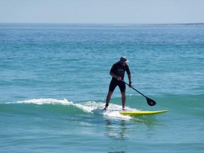 SUP surf com remo