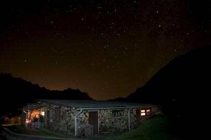 Céu de estrelas sobre o Abrigo Rebouças