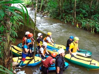 O rafting é certeza de aventura